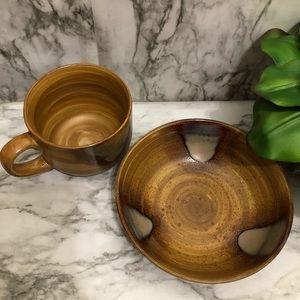 Sango Splash bowl and mug